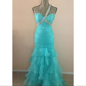 Beautiful One Strap Pageant Gown